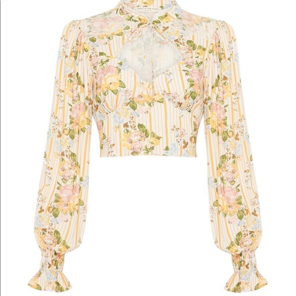 Spell & The Gypsy Collective Tops - NWT Spell Garden Rose cropped blouse - XXL